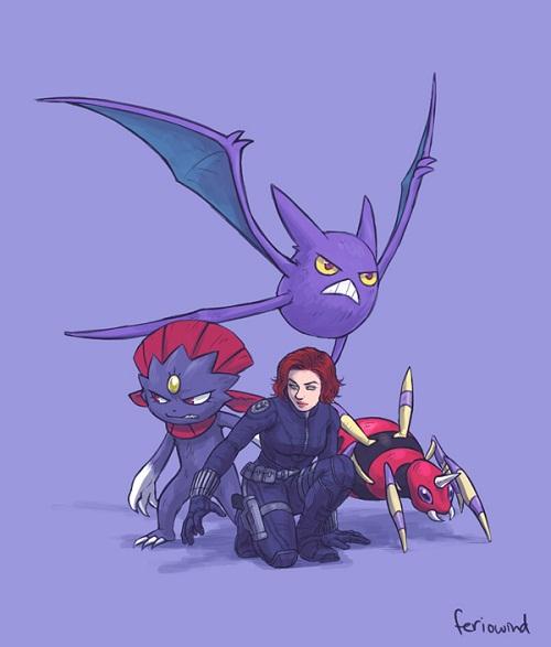 Et si les Avengers faisaient équipe avec les Pokémons (7)